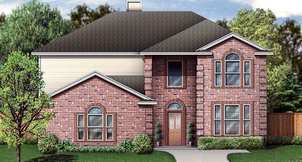 Traditional House Plan 89892 with 5 Beds, 3 Baths, 2 Car Garage Elevation
