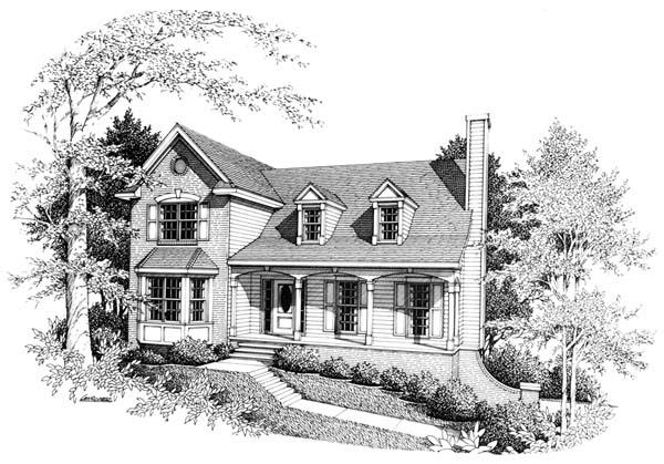 Country, Farmhouse House Plan 90457 with 3 Beds, 3 Baths, 2 Car Garage Elevation