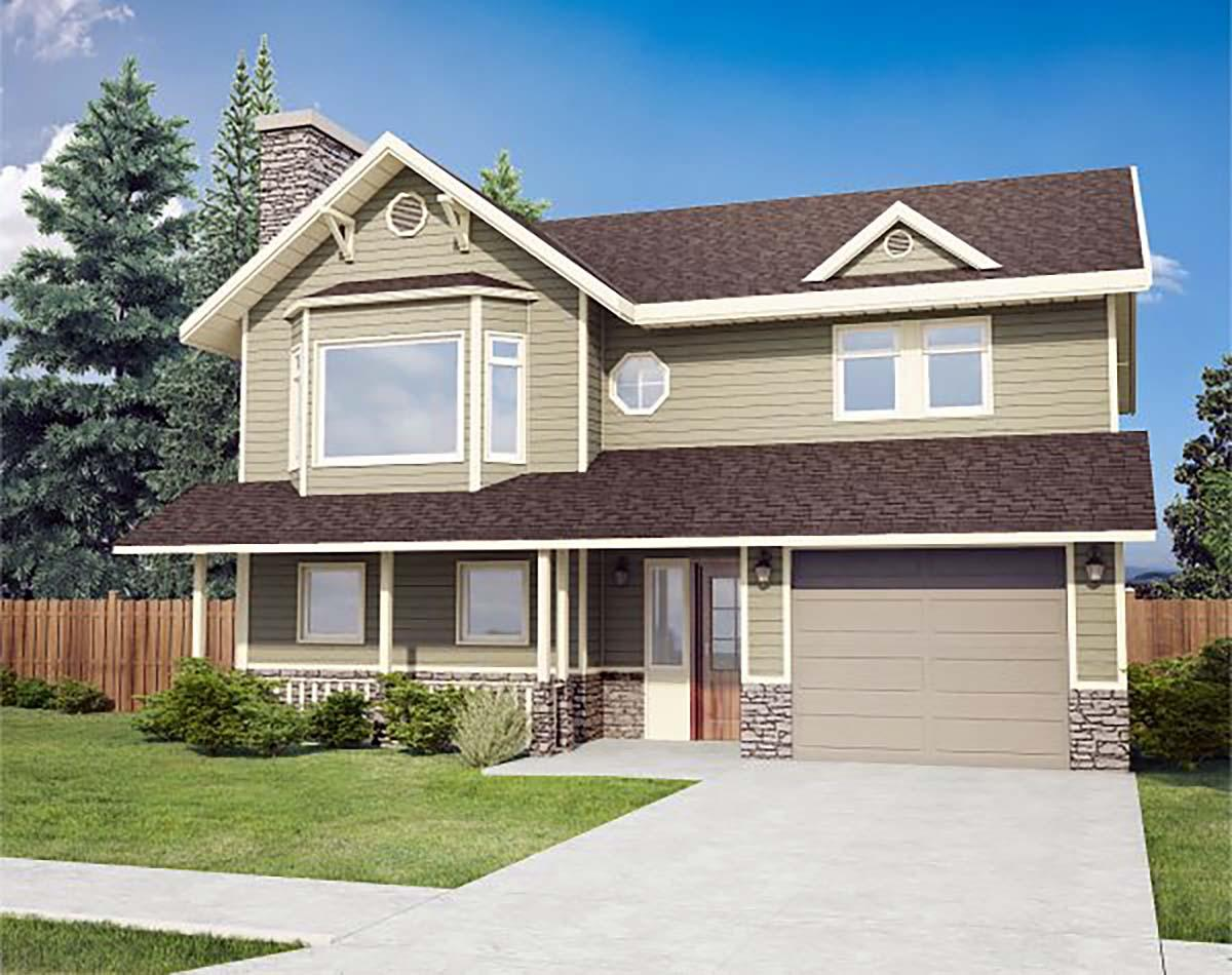 Country House Plan 90914 with 3 Beds, 1 Baths, 1 Car Garage Elevation
