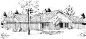 Ranch Multi-Family Plan 92296 with 5 Beds, 4 Baths, 2 Car Garage Elevation