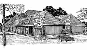 Traditional Multi-Family Plan 92298 with 4 Beds, 4 Baths, 3 Car Garage Elevation