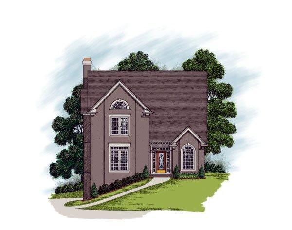 Traditional House Plan 92342 with 5 Beds, 4 Baths, 2 Car Garage Elevation