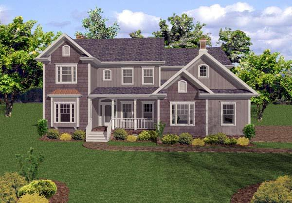 Traditional House Plan 92348 with 5 Beds, 5 Baths, 4 Car Garage Elevation