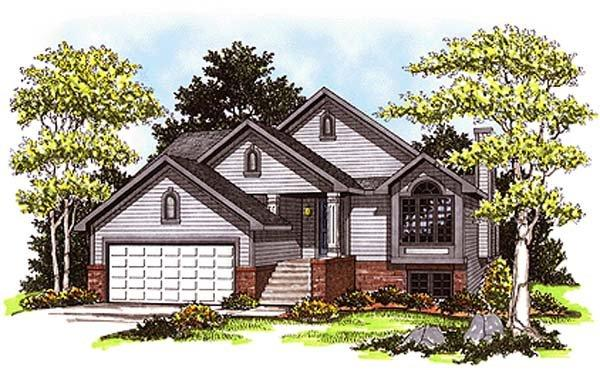 Cabin, Country House Plan 93122 with 2 Beds, 3 Baths, 2 Car Garage Elevation