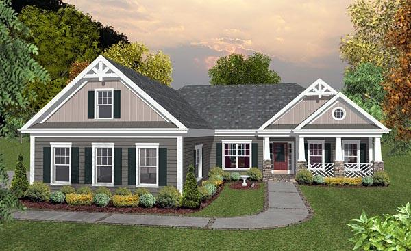 Country, Craftsman, Traditional House Plan 93488 with 3 Beds, 2 Baths, 3 Car Garage Elevation