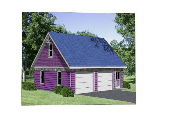 2 Car Garage Plan 94425 Elevation