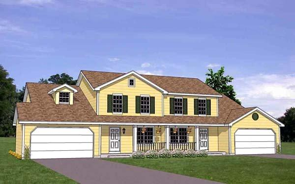 Traditional Multi-Family Plan 94483 with 8 Beds, 6 Baths, 4 Car Garage Elevation