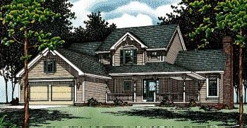 Country House Plan 94919 with 4 Beds, 3 Baths Elevation