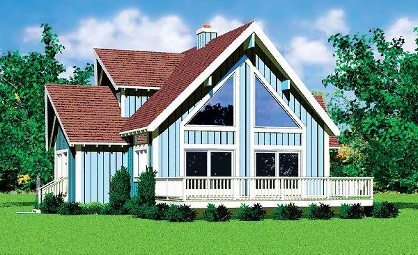 Contemporary House Plan 95270 with 4 Beds, 2 Baths Elevation