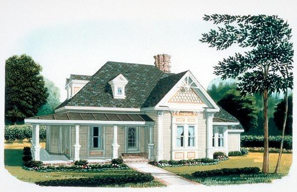 Country, Farmhouse, Victorian House Plan 95582 with 3 Beds, 2 Baths Elevation