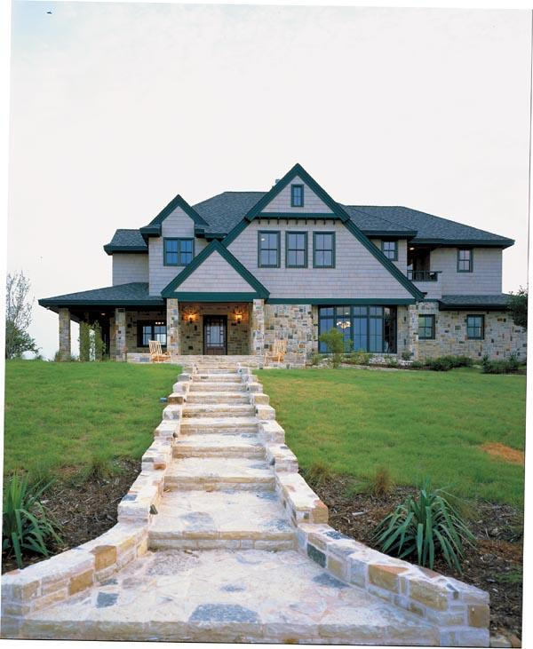 Craftsman, European House Plan 95733 with 4 Beds, 5 Baths Elevation