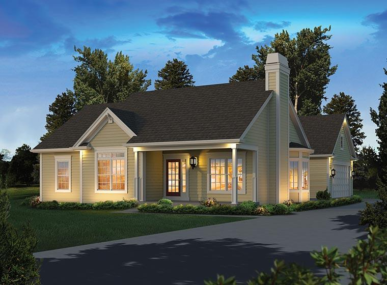Ranch, Traditional House Plan 95973 with 3 Beds, 2 Baths, 2 Car Garage Elevation