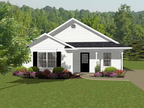 Traditional House Plan 96702 with 2 Beds, 1 Baths Elevation