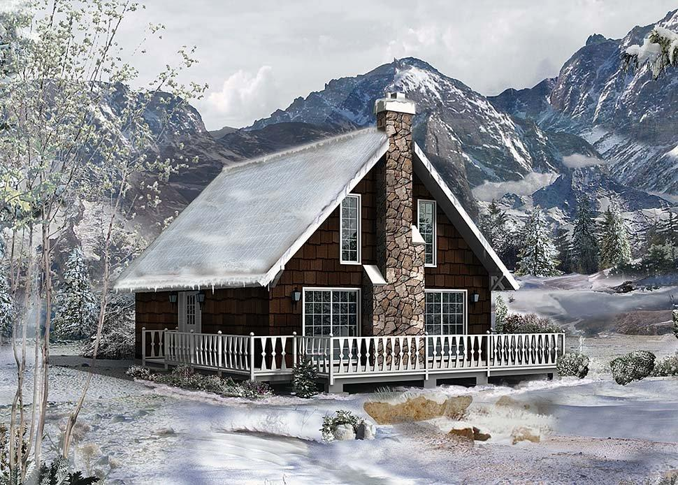 Cottage House Plan 97240 with 2 Beds, 1 Baths Elevation
