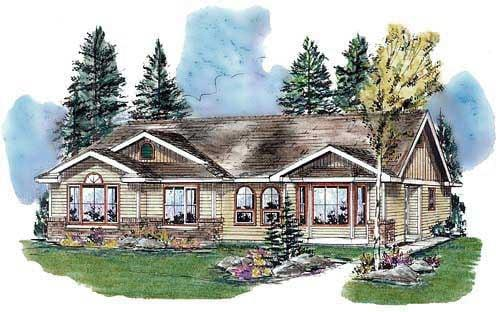 Ranch Multi-Family Plan 98884 with 6 Beds, 4 Baths Elevation