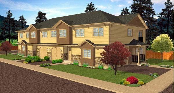 Multi-Family Plan 99973 with 12 Beds, 12 Baths, 8 Car Garage Elevation