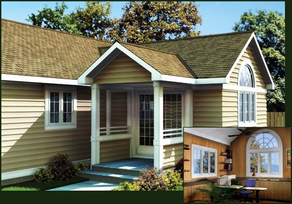 14'x14' Office Addition For One and Two-Story Homes  - Project Plan 90026