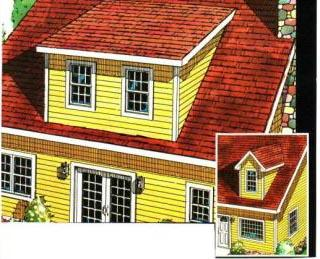 Dormers for Shed & Gable Roofs - Project Plan 90036