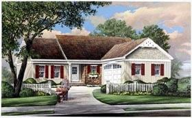 Plan Number 57069 - 1445 Square Feet
