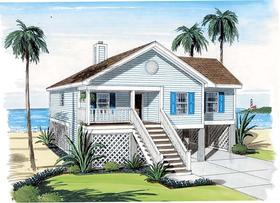Plan Number 74006 - 1297 Square Feet
