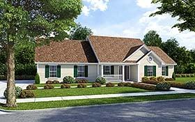 Plan Number 74007 - 1430 Square Feet