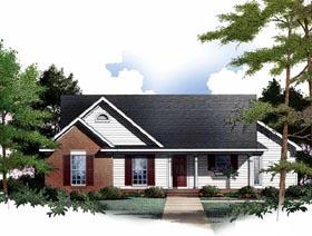 Plan Number 93075 - 1170 Square Feet
