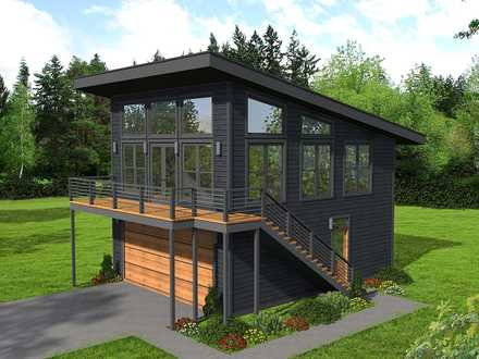 Garage-Living Plan 40823