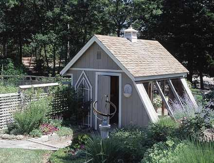 503499 - Greenhouse-Style Garden Shed