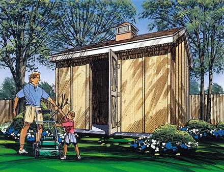 85911 - Gable Storage Shed with Cupola