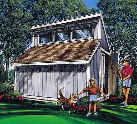 85916 - Contemporary Shed Plan
