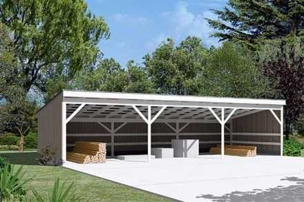 85946 - Pole Building - Open Shed