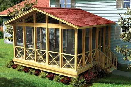 90008 - Covered Screen Porch