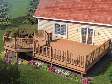 90015 - Picnic Deck with Raised Dining Area