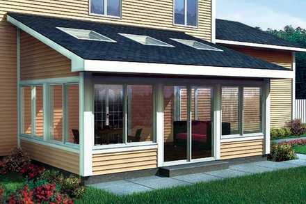 90021 - Shed Roof Sun Room Addition For Two-Story Homes