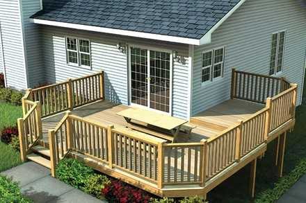 90041 - Multi-Level Deck w/ Angle Corners