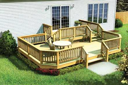 90042 - Two-Level Deck w/ Angle Corners
